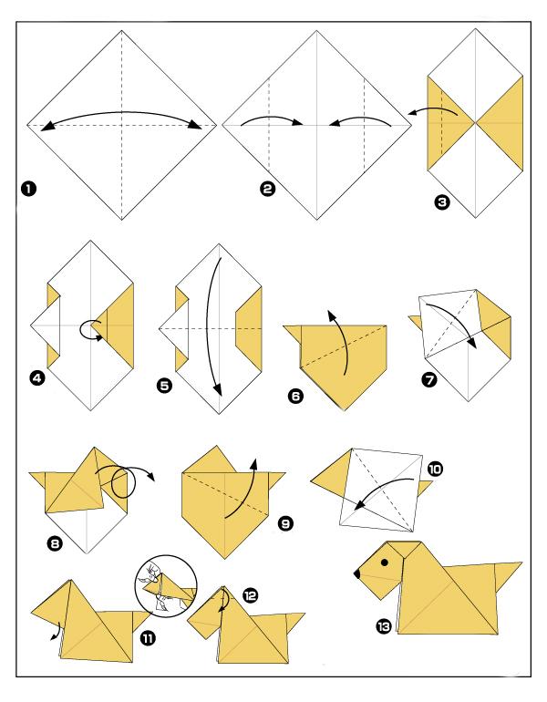 Простые схемы оригами для