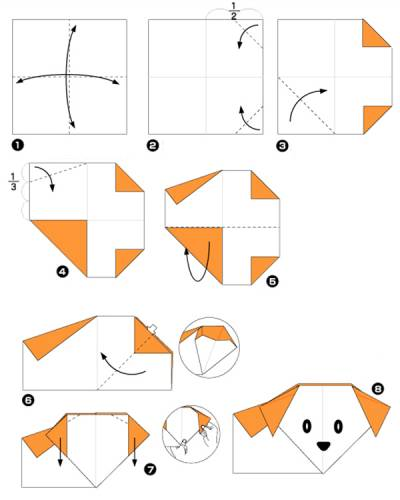 by step origami rabbit instructions origami dog instructions for kids.